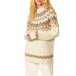 French Connection Leena Fair Isle Pullover Sweater